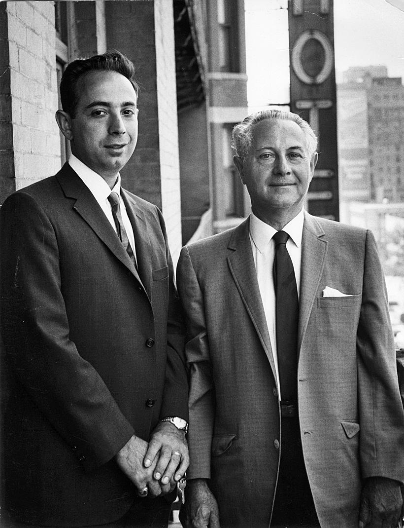 The longtime Chelsea Hotel landlord Stanley Bard and his son David.