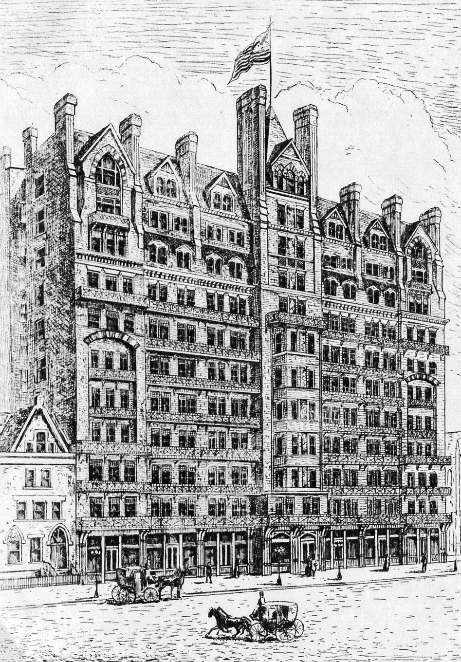 The Chelsea Hotel in 1884.