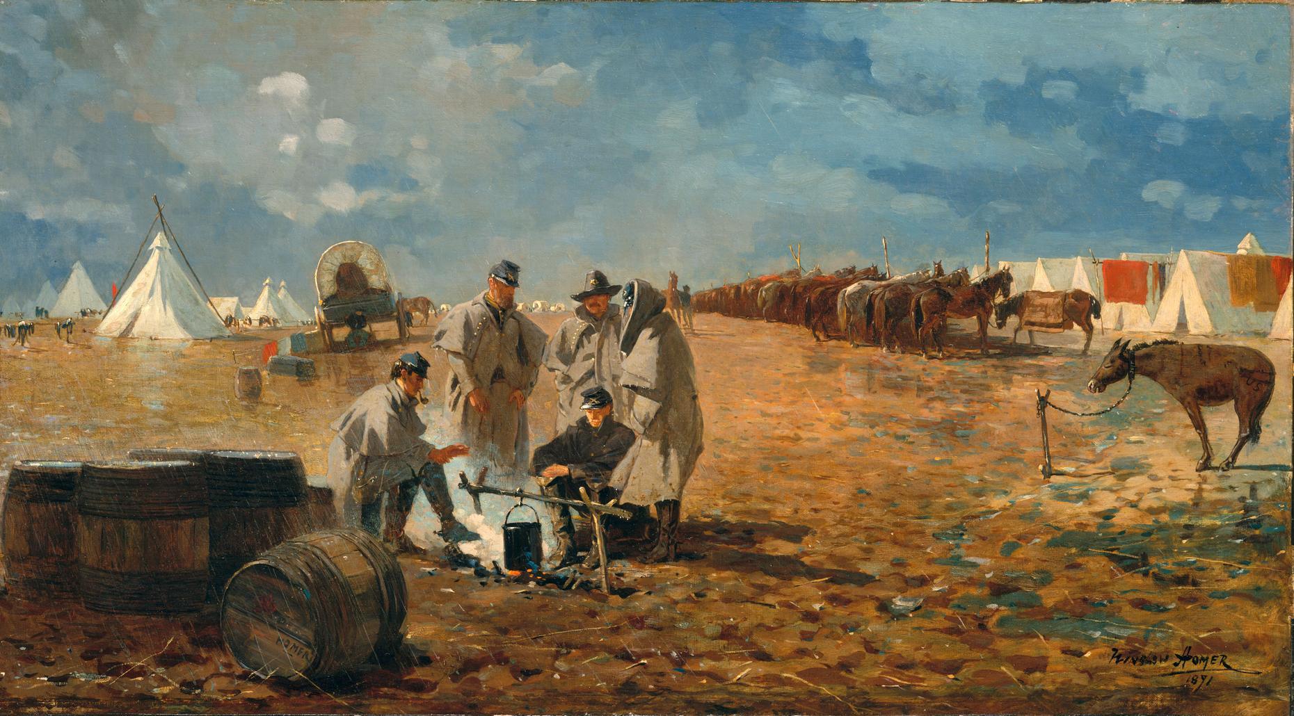 Winslow Homer, Rainy Day at Camp. 1871