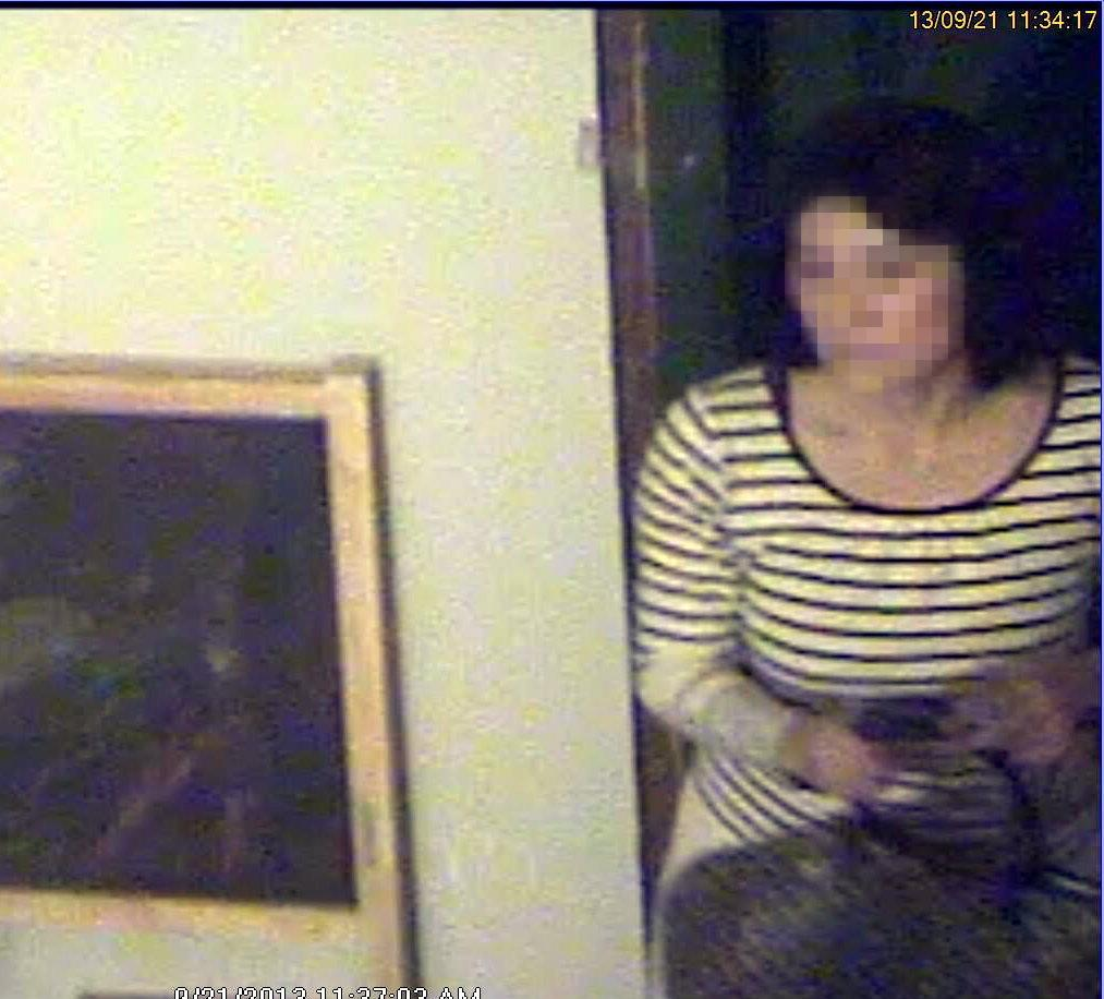 A still from the surveillance camera footage captured by Ken Podziba