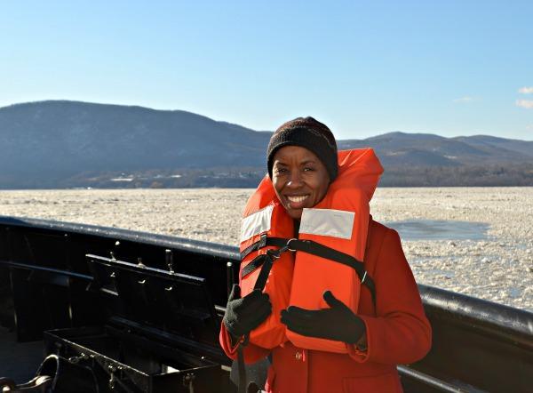 Jenna Flanagan on a Coast Guard cutter