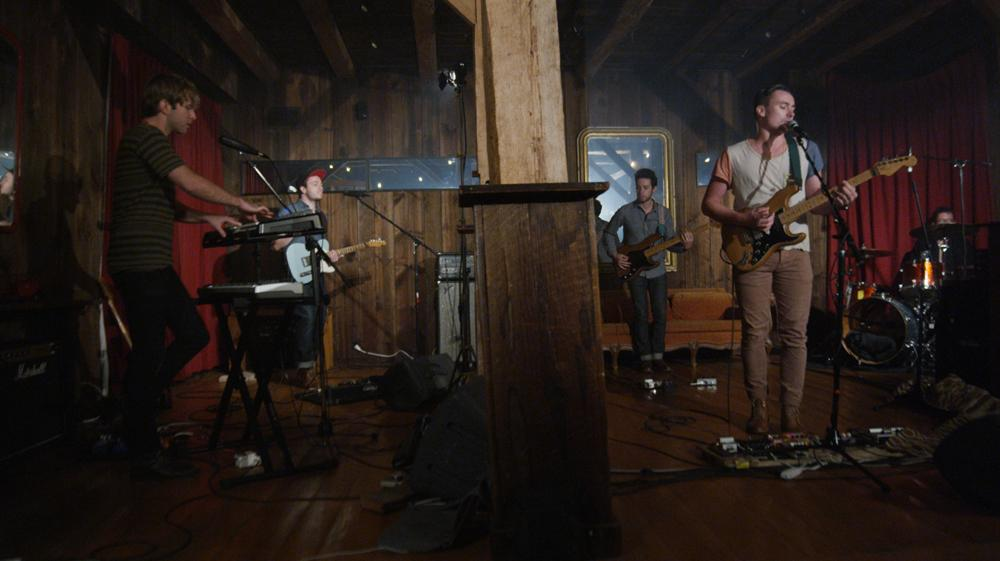 Fort Lean plays in an 18th century barn in Upstate New York. (Photo Credit: Barnburners)