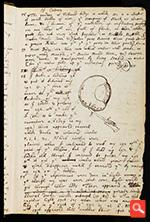 The page from Isaac Newton's notebook