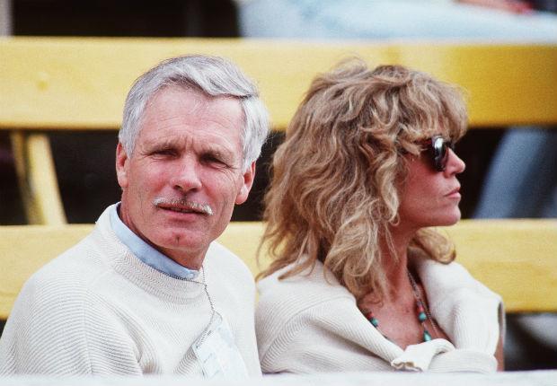 Jane Fonda and then husband Ted Turner in 1990 (Tony Duffy/Getty)