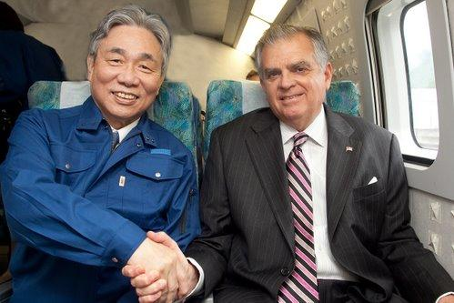Ray LaHood visiting Japan's high-speed rail