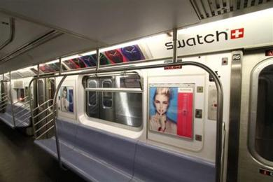 nyc transit coating cars in more ads dominating stations too wnyc. Black Bedroom Furniture Sets. Home Design Ideas