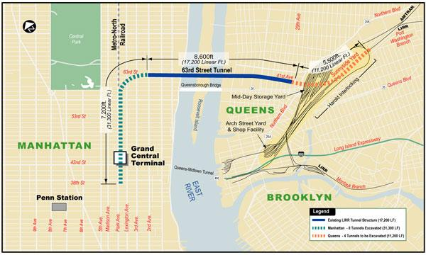 tunnel linking long island railroad to grand central terminal