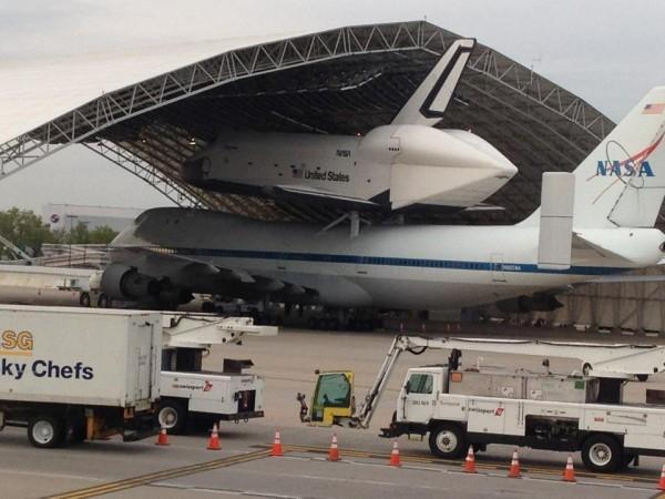 PHOTO: Shuttle on the Tarmac - WNYC