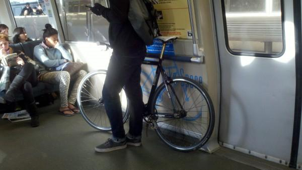 Bikes On Bart his bike on BART photo by