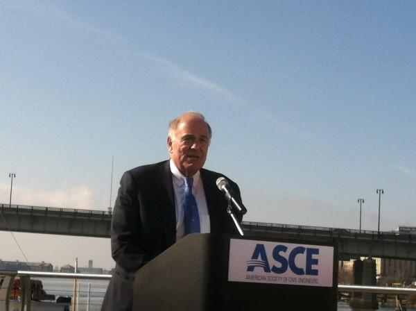 Former Pa. Governor Ed Rendell (Frederick Douglass Memorial Bridge in backdrop)
