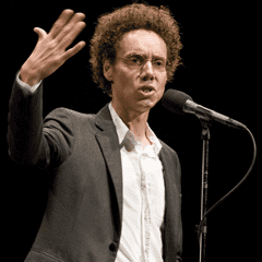 Malcolm Gladwell telling a story live at The Moth.