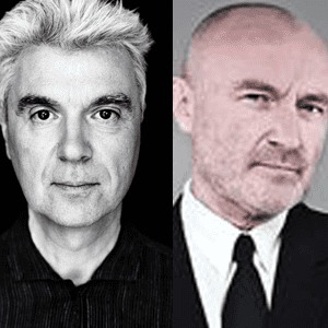 David Byrne and Phil Collins