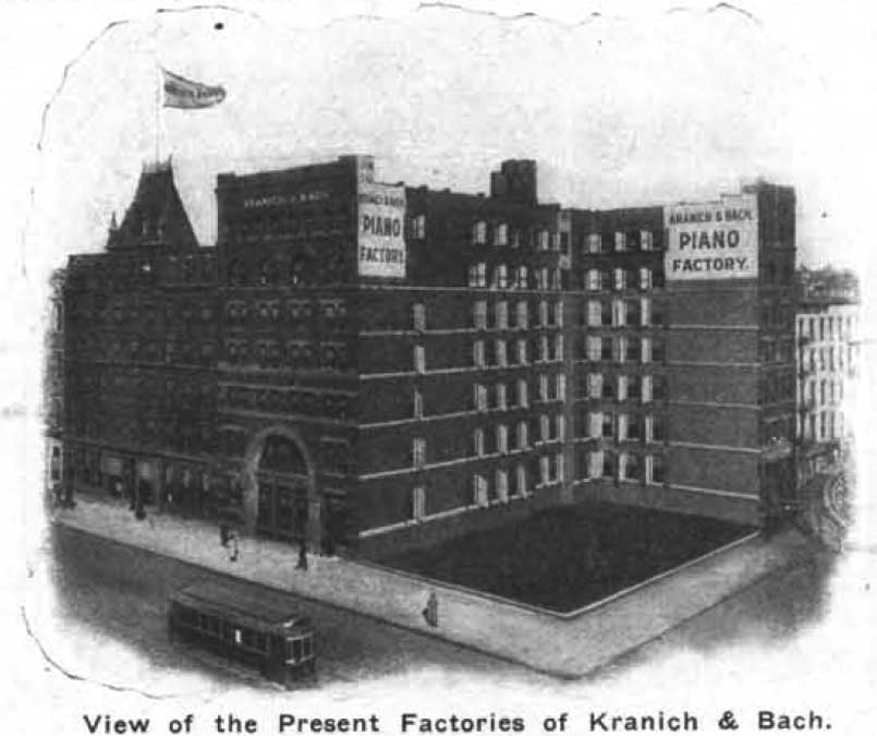 The Kranich & Bach factory, circa 1914