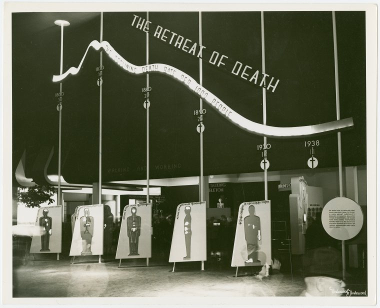 1939 World's Fair exhibit on death rate