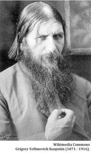 Wikimedia Commons: Grigory Yefimovich Rasputin (1871 - 1916).
