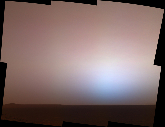 sun sets on mars nasa - photo #19