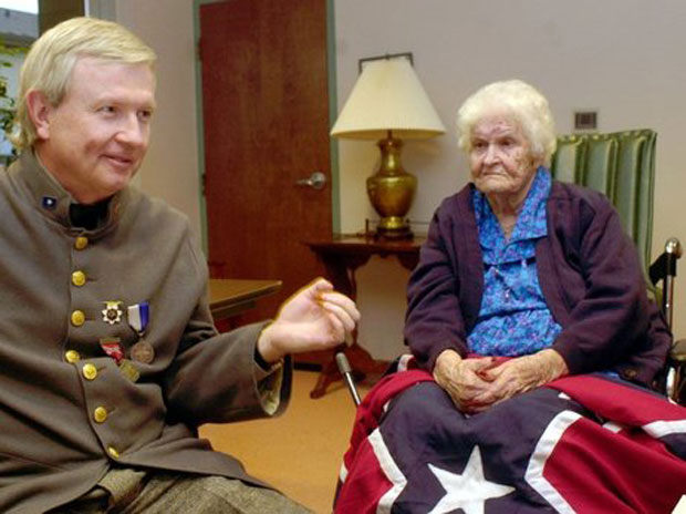 The last known Civil War widow, Alberta Martin, in a nursing home in Enterprise, Ala., on Monday, April 7, 2003