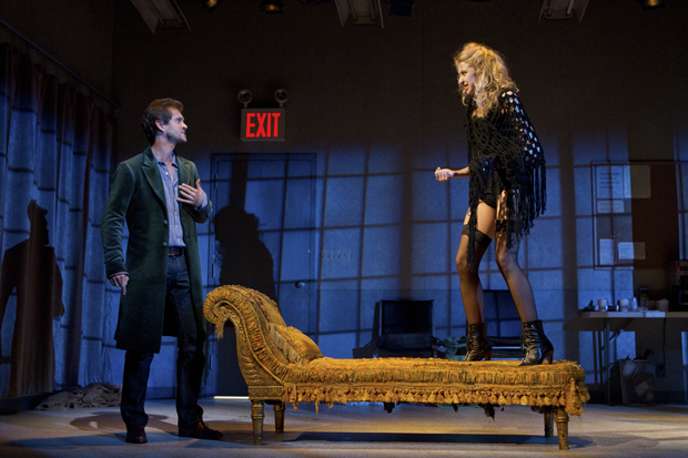 Hugh Dancy and Nina Arianda in the Broadway production of 'Venus in Fur' (Joan Marcus)