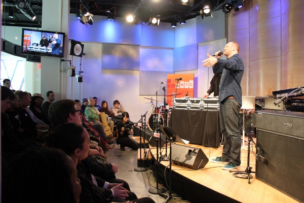 Baba Brinkman performs live on Soundcheck in the Greene Space.