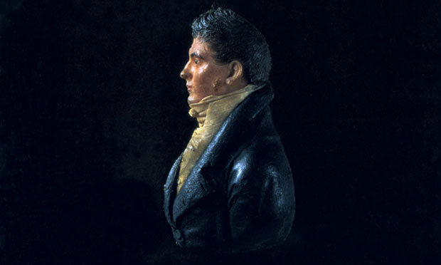 This colored wax bas-relief sculpture on glass (c. 1800) attributed to John Christian Rauschner is the only known likeness of White House architect James Hoban. White House Historical Association (White House Collection)