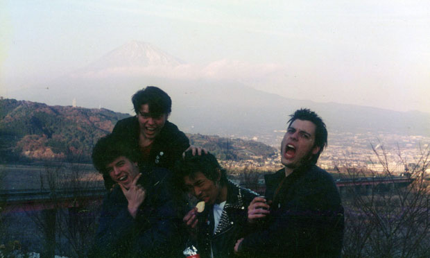 A photo of KARP with theirJapanese tour manager, circa 1995. Photo courtesy of William E. Badgley