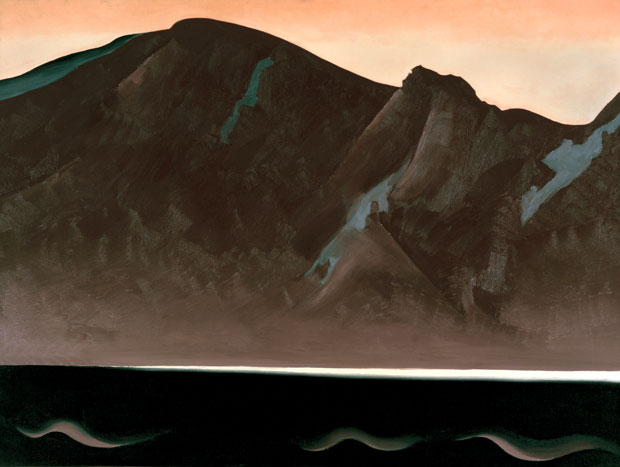 "This 1930 oil by Georgia O'Keefe, ""Mountain at Bear Lake, Taos,"" became part of the White House collection in 1997 under Hillary Clinton. White House Historical Association (White House Collection)"