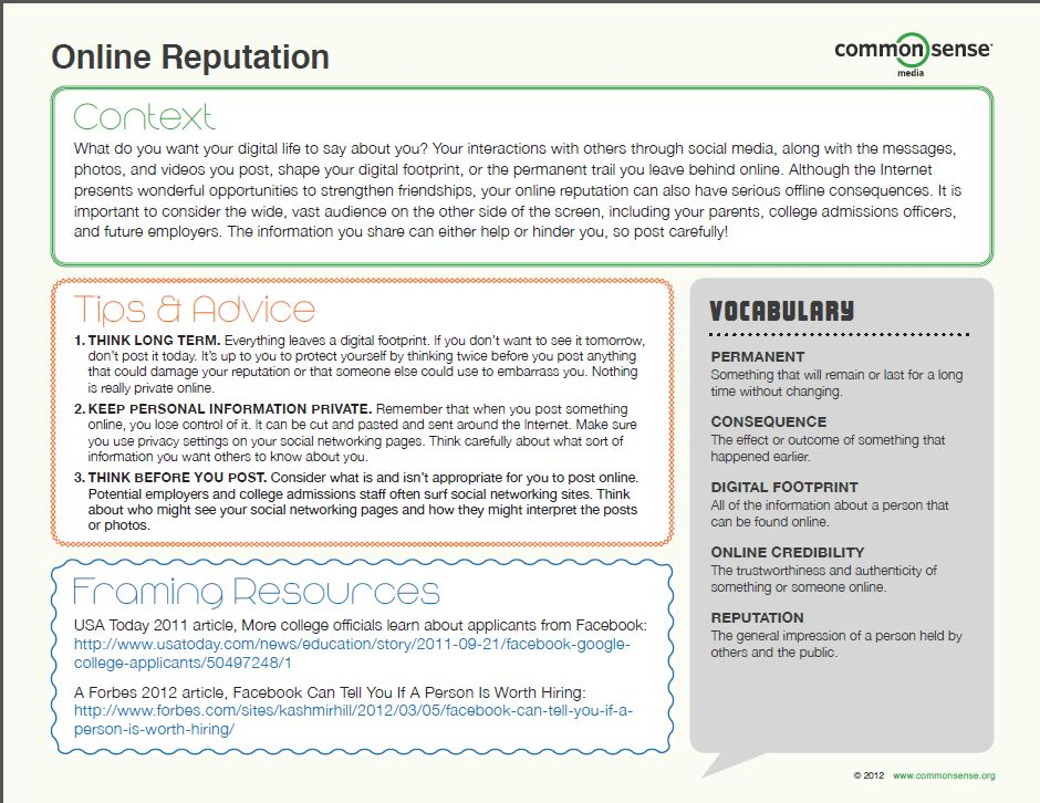 Online Reputation Module Page1