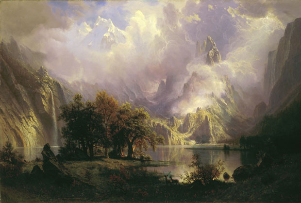 "This 1870 oil by Albert Bierstadt, ""Rocky Mountain Landscape,"" became part of the White House collection in 1981 under Nancy Reagan. White House Historical Association (White House Collection)"