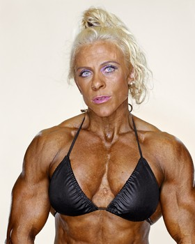 Above, 'Marja Lehtonen, Female Bodybuilders,' 2007.