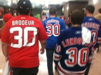 What Kind Of Friendship Is This? Devils, Rangers Fans Sit (Together) Through Hockey Playoffs