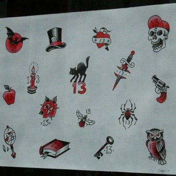 Chris kingheavy metal rock banner tattoo 5 point star for Black friday tattoo deals