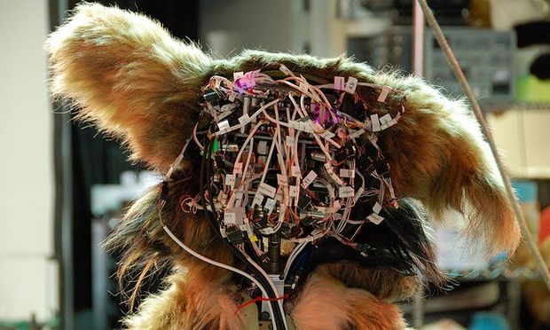 wires; furbie head