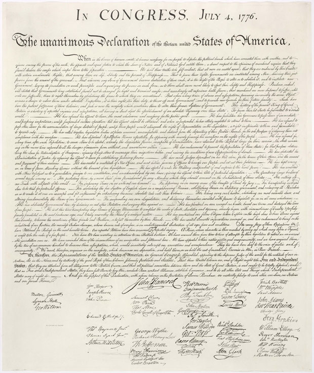 One of William Stone's copies of the Declaration of Independence.