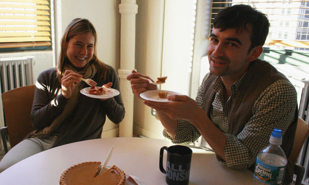 Anna Sale, who covers Politics for WNYC and It's A Free Country, and Business Reporter Ilya Marritz dig into some pumpkin pie.