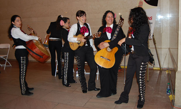 Mariachi Flor de Toloache also auditioned. Photo by Kate Hinds.
