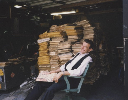 Vince Giordano and his sheet music collection