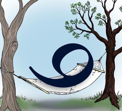 9 in a hammock.
