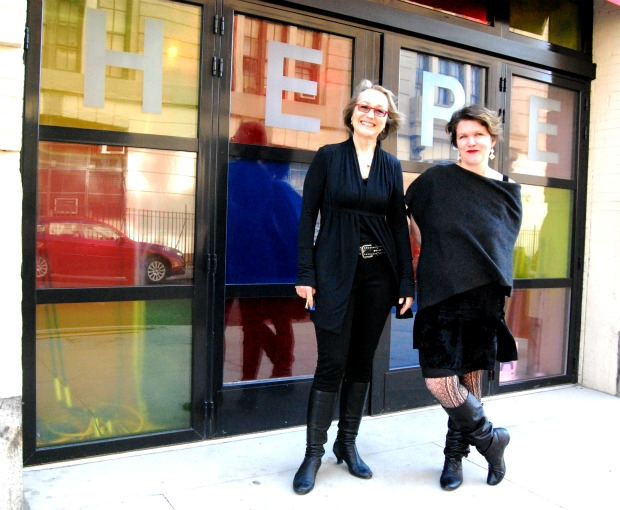 Producing Director Kim Whitener and HERE Arts Center Co-Founder and Artistic Director Kristin Marting. The company is preparing to celebrate its 20th season in business.