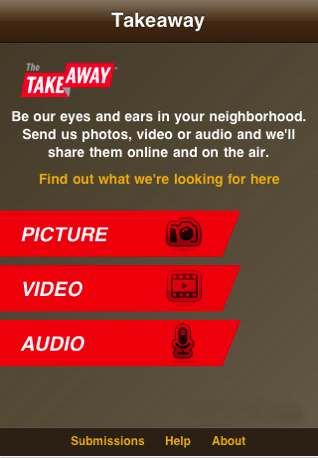 The Takeaway iPhone app
