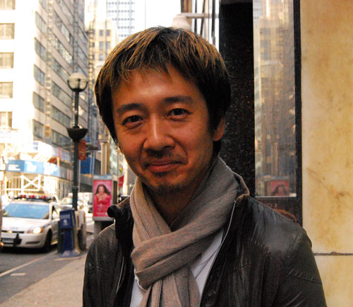 The writer and director of 'Hikobae,' Ryosei Kajiwara.