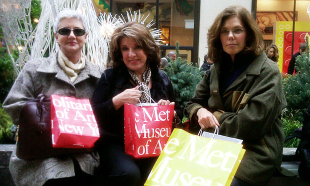 Nan Garvey, Alice Chaleff and Carol Mace have been patronizing the Met Museum store every year for the past six years.