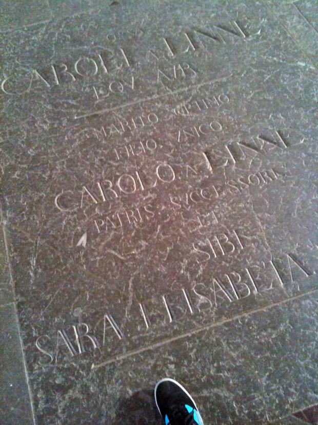Grave of Carl von Linné in Uppsala, Sweden