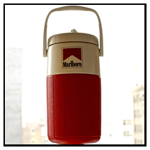 Marlboro Thermos -- You're probably going to want coffee or tea or hot cocoa while camping, and this lady's thermos offers you that option on the go, along with gorgeous color and craftsmanship.