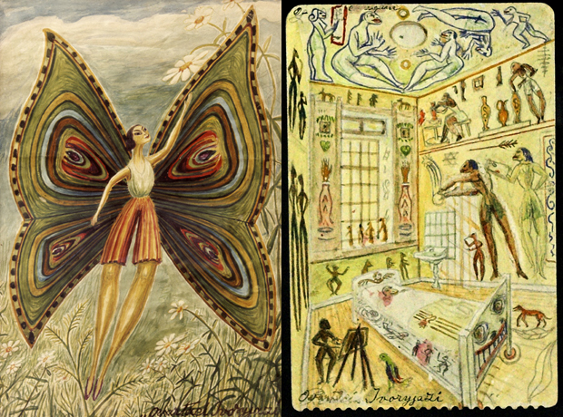 Ovartaci sketches of butterfly and room