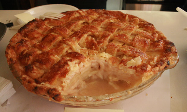 Third place went to Tracie Hunt's Salted Caramel Apple Pie. Hunt is a local producer for The Takeaway.