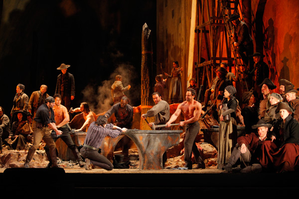 "A scene from Act I of Verdi's ""Il Trovatore."" (Ken Howard/Metropolian Opera)"