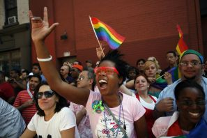 New Yorkers celebrate gay pride