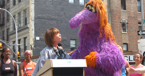 Janette Sadik-Khan and the mysterious ZoZo discuss Summer Streets.