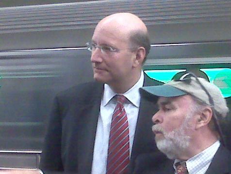 MTA Chairman Jay Walder and No. 7 General Line Manager John Hoban