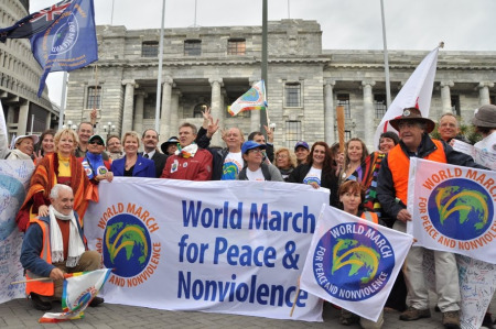 World Marchers in New Zealand (image courtesy of theworldmarch.org)